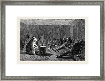 The Eastern Question A Chat With Our Landlady At Nisch Framed Print