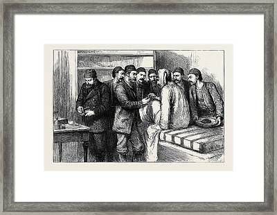The Eastern Question A Servian Bullet Framed Print by English School