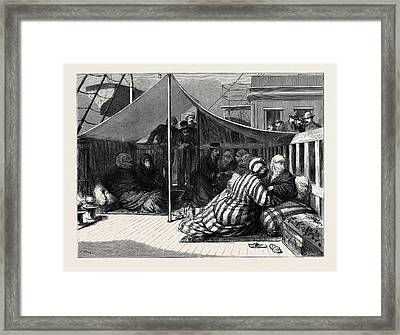 The Eastern Question Taking Tickets In The Harem Framed Print by English School