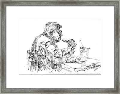 The Eater Framed Print by Ylli Haruni