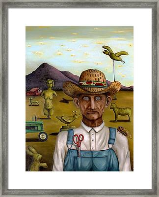 The Eccentric Farmer Edit 2 Framed Print by Leah Saulnier The Painting Maniac