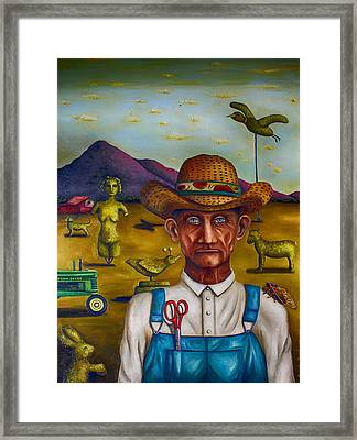 The Eccentric Farmer Edit 4 Framed Print by Leah Saulnier The Painting Maniac