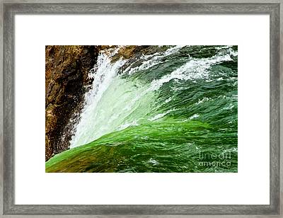 The Edge Framed Print by Bill Gallagher