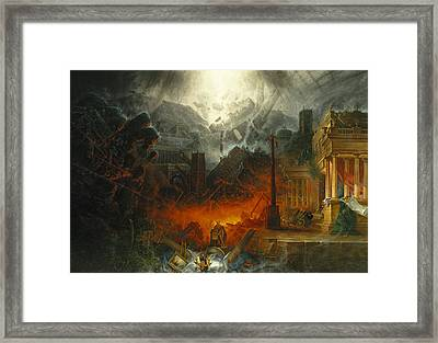 The Edge Of Doom Framed Print by Samuel Colman