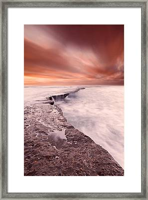 The Edge Of Earth Framed Print