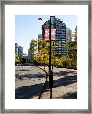 The Edge Of Pacific Street Framed Print by Rae Tucker