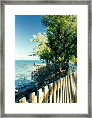 The Edge Of The Island Framed Print by Susan Duda