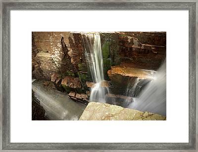 Triple Falls // Glacier National Park Framed Print by Nicholas Parker