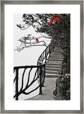 The Edge Zhangjiajie China Framed Print