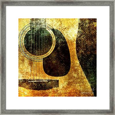The Edgy Abstract Guitar Square Framed Print