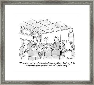 The Editor Who Turned Down The First Harry Potter Framed Print by Jack Ziegler