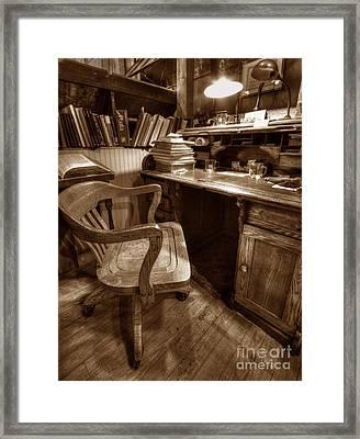The Editor's Desk Framed Print