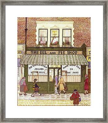 The Eel And Pie Shop, 1989 Watercolour On Paper Framed Print by Gillian Lawson