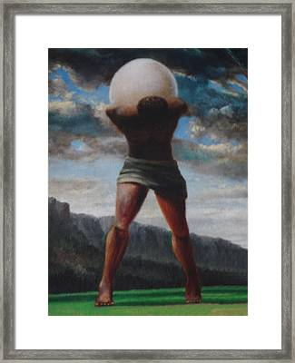 The Egg Of Ron Wood Framed Print by Genio GgXpress