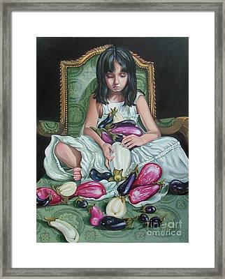 The Eggplant Princess Framed Print by Shelley Laffal