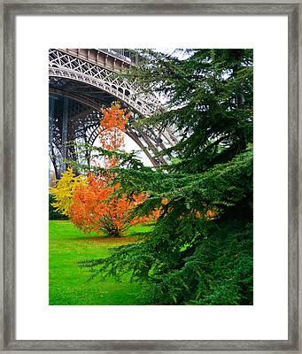 The Eiffel In Fall Framed Print