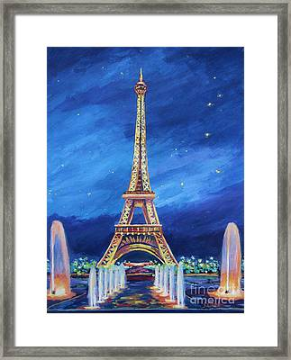 The Eiffel Tower And Fountains Framed Print