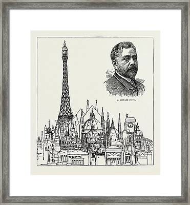 The Eiffel Tower At The Paris Exhibition As Compared Framed Print by Litz Collection