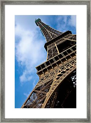 The Eiffel Tower From Below Framed Print by Nila Newsom