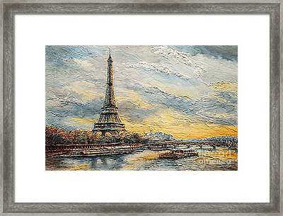The Eiffel Tower- From The River Seine Framed Print