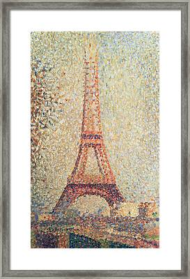 The Eiffel Tower Framed Print by Georges Pierre Seurat