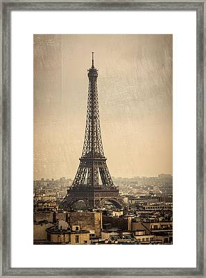 The Eiffel Tower In Paris France Framed Print