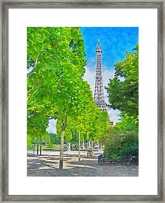 The Eiffel Tower In The Spring Of 2014 Framed Print