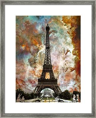 The Eiffel Tower - Paris France Art By Sharon Cummings Framed Print