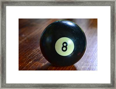 The Eight Ball Framed Print by Paul Ward