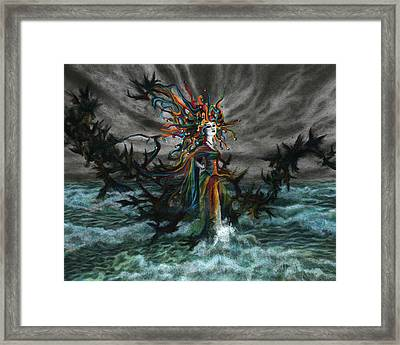 The Eighth Fool Framed Print by Kd Neeley