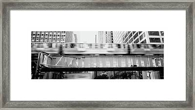 The El Elevated Train Chicago Il Framed Print by Panoramic Images