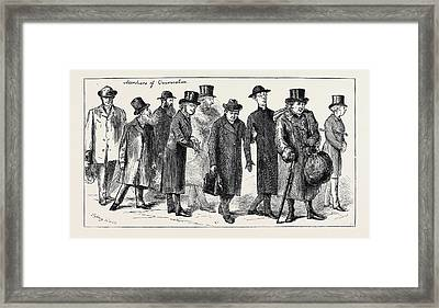 The Election Of Dean Stanley As Select Preacher At Oxford Framed Print
