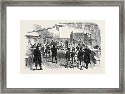 The Elections In France Electors Receiving Framed Print by French School