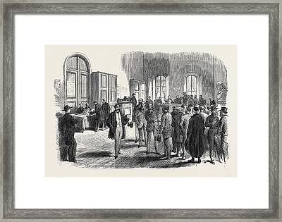 The Elections In France Electors Voting At The Mairie Framed Print by French School