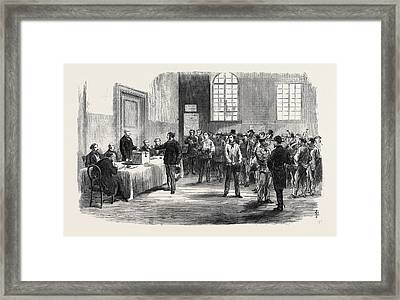 The Elections In France Electors Voting Framed Print by French School