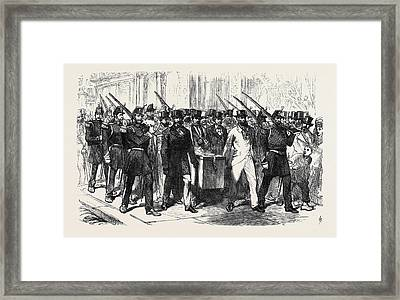 The Elections In France Removal Of The Voting-urn Framed Print by French School