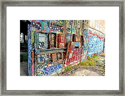 The Electrical Panel For The Old Train Roundhouse At Bayshore Near San Francisco And The Cow Palace Framed Print by Jim Fitzpatrick