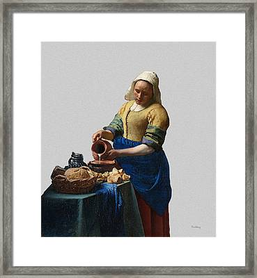 The Elegance Of The Kitchen Maid Framed Print by David Bridburg