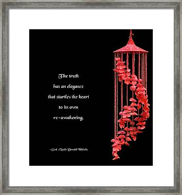 The Elegance Of Truth Framed Print by Mike Flynn