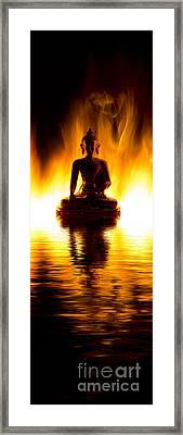 The Elemental Buddha Framed Print by Tim Gainey