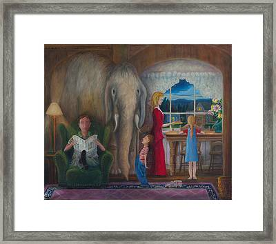 The Elephant Ambulance And Cookies Framed Print