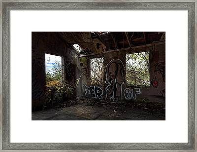 The Elephant In The Room - Abandoned Building Framed Print