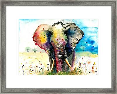 The Elephant - Xxl Format Framed Print