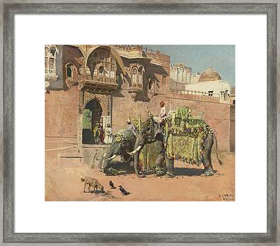 The Elephants Of Rajah Jodhpore Framed Print by Celestial Images