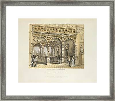 The Elizabethan Court Framed Print by British Library