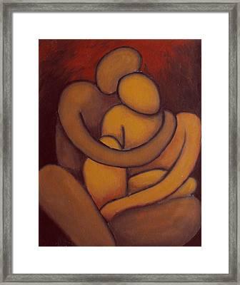 The Embrace Framed Print by Estefan Gargost