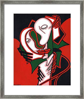 The Embrace Framed Print by Kamil Swiatek