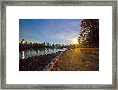 Framed Print featuring the photograph The Emerald City by Eti Reid