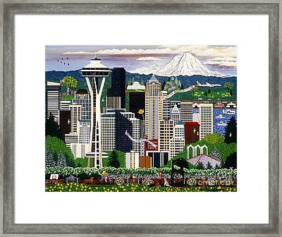 The Emerald City Seattle Framed Print