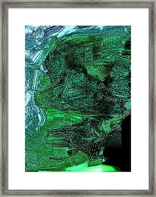 The Emerald Cliff Framed Print by Lenore Senior